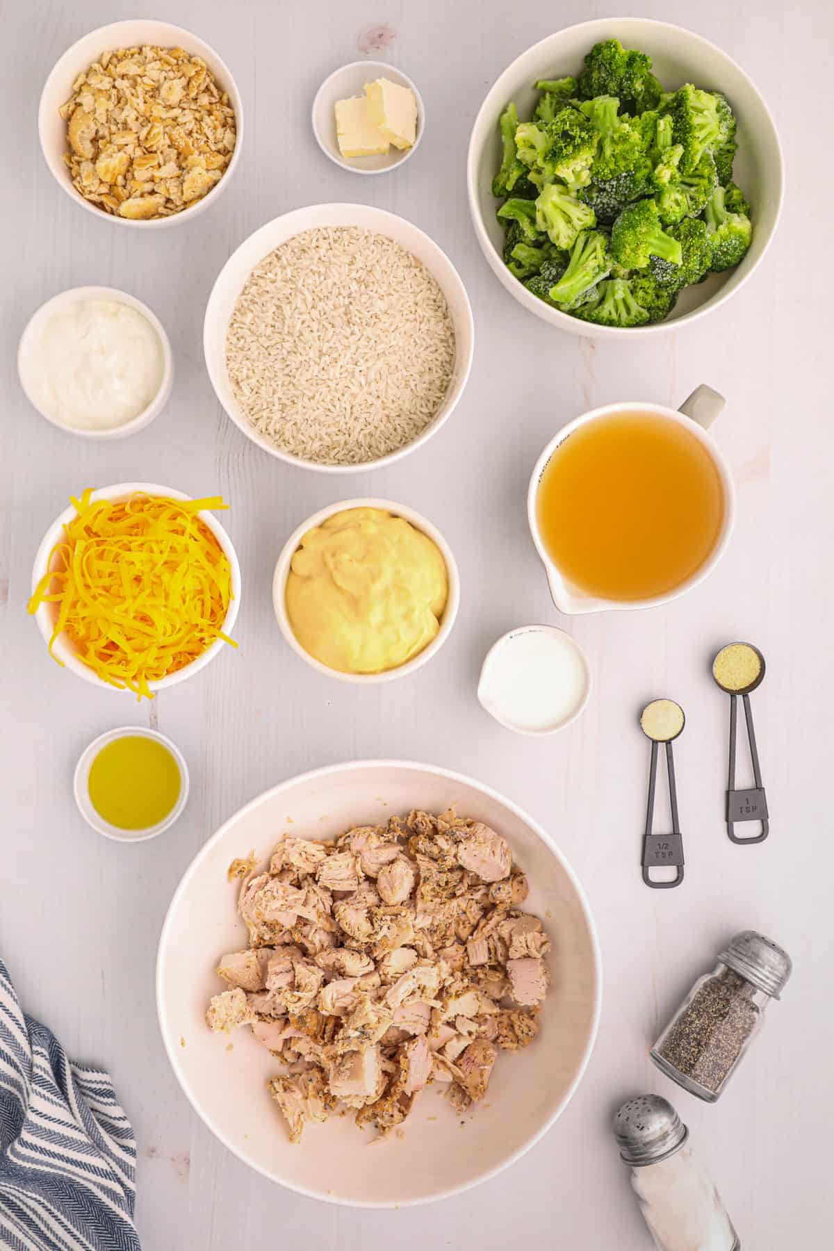 ingredients to make chicken and rice casserole