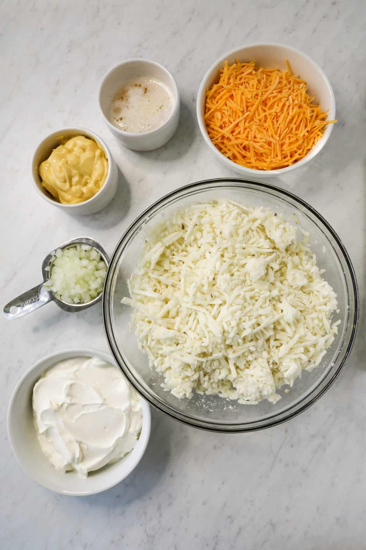ingredients to make hashbrown casserole