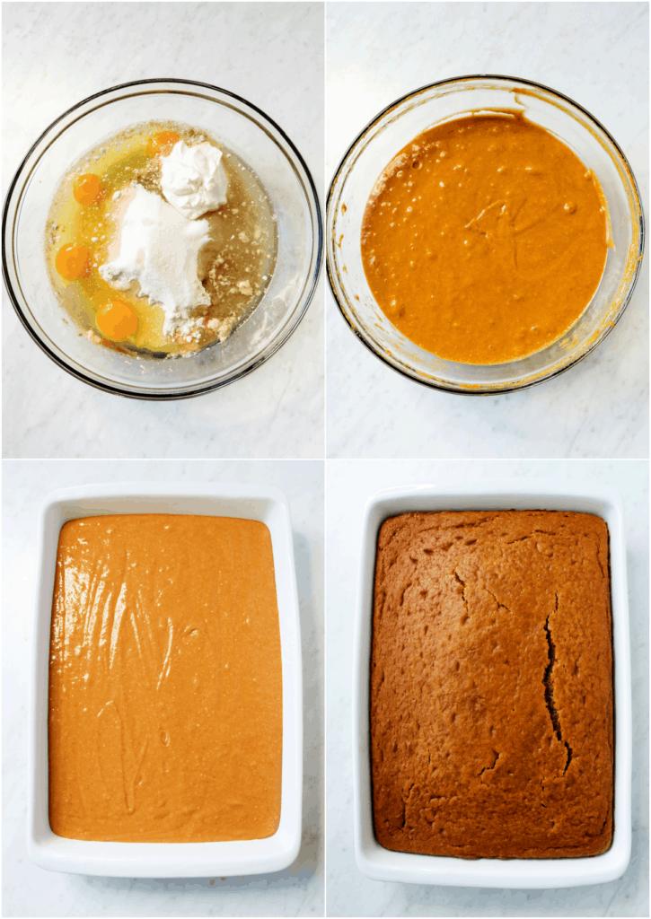 how to make pumpkin cake steps