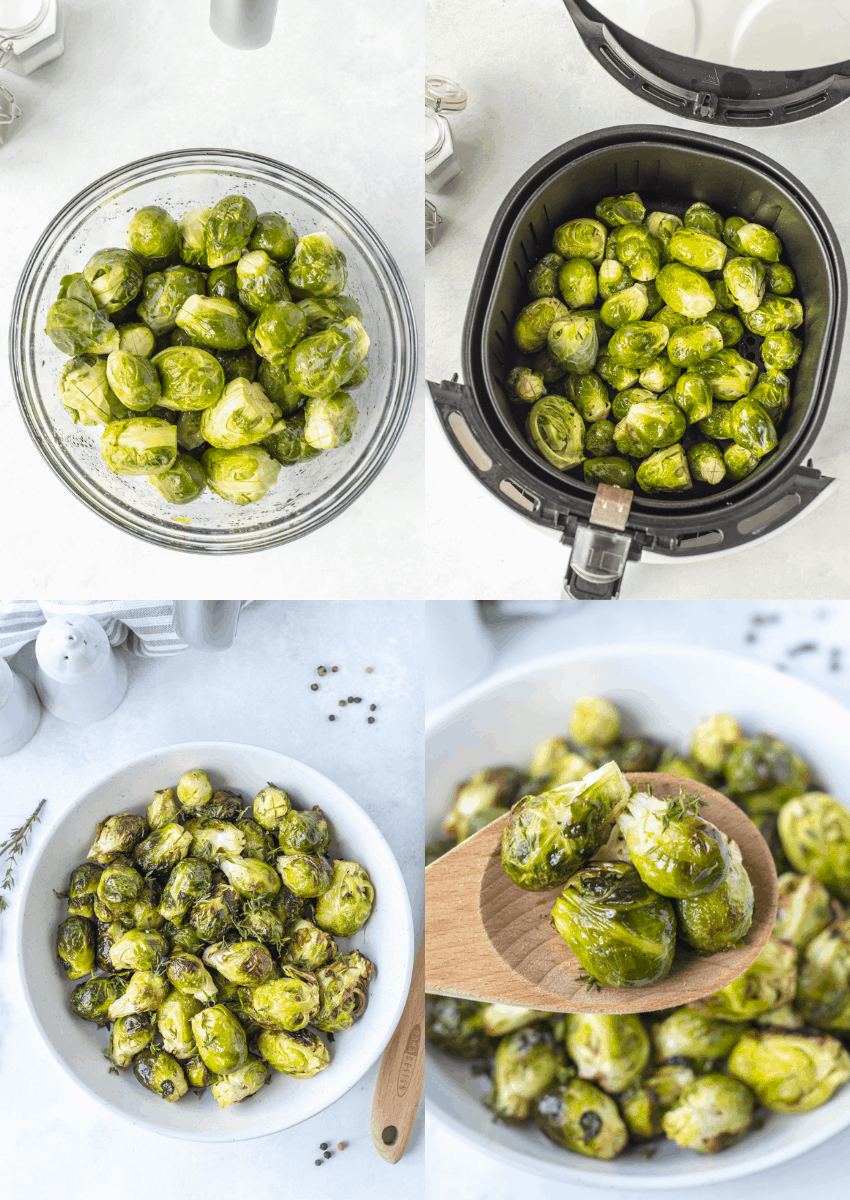 steps to make air fryer brussel sprouts