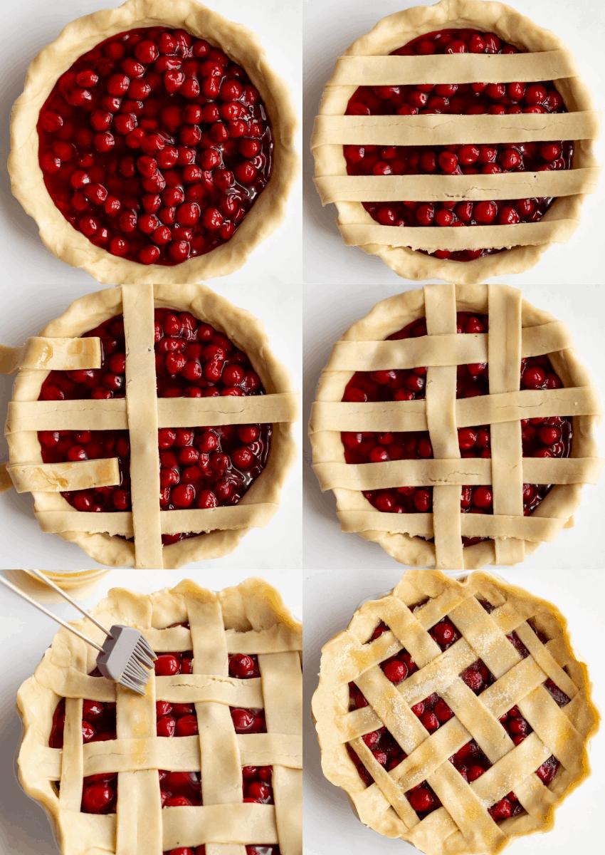steps to make cherry pie with lattice design