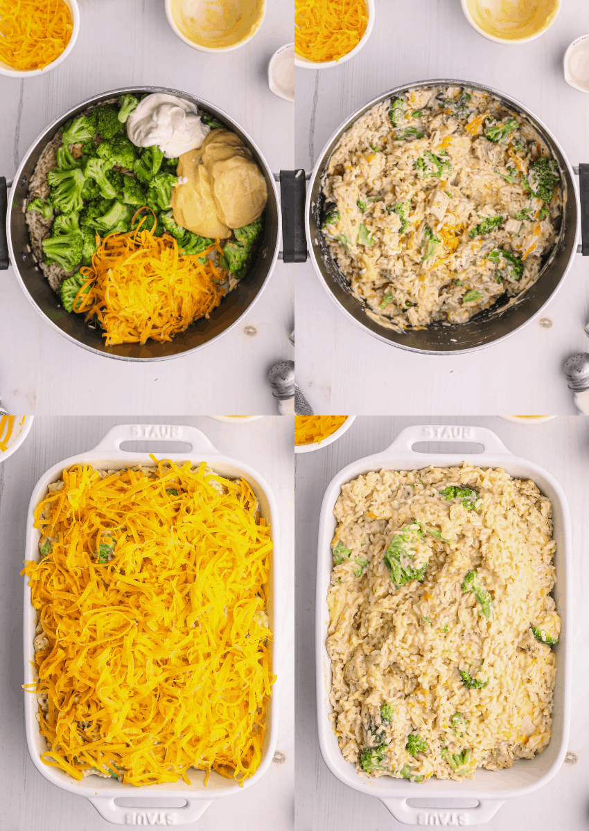steps to make chicken and rice casserole