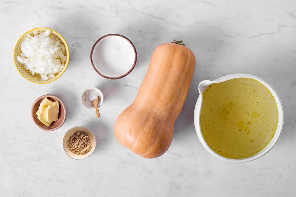 ingredients to make butternut squash soupr