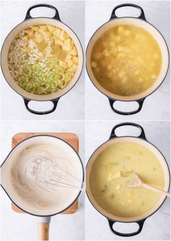 steps to make potato soup