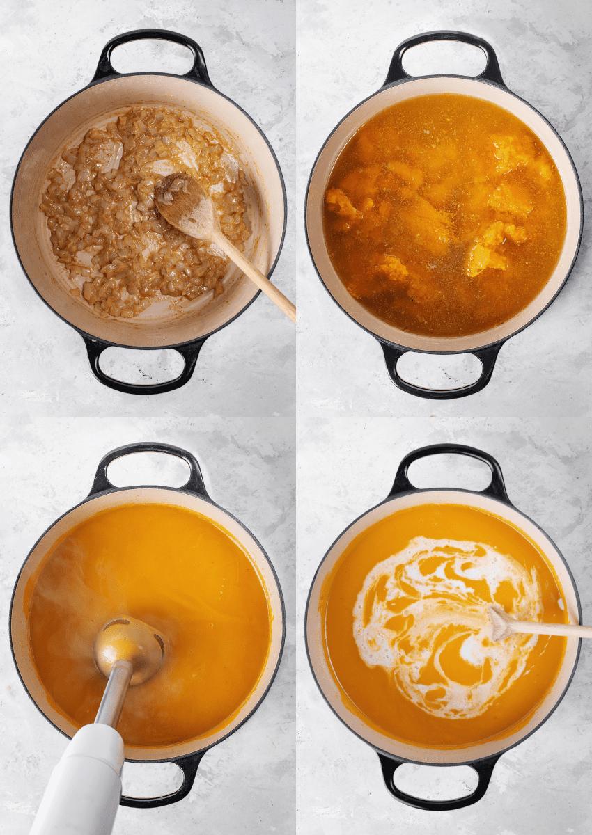 steps to make butternut squash soup