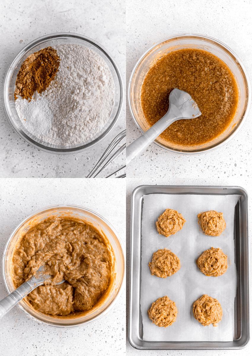 steps to make soft cake-y pumpkin cookies