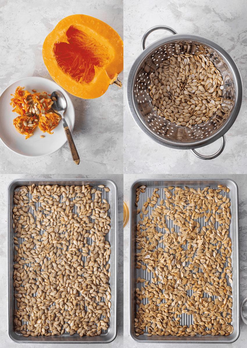 steps to make roasted pumpkin seeds